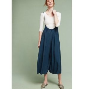Anthro Akemi & Kin Suspender Wide Leg Jumpsuit